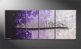La pintura  exclusiva 'Purple Melody' 170x70cm