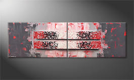 La pintura  exclusiva 'Red Contrast' 200x60cm