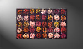 La pintura  exclusiva 'Summer Roses' 100x60cm
