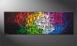 Pintura de lienzo 'Colors Of Light' 210x70cm