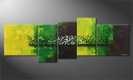 Pintura de lienzo 'Green Night' 190x70cm