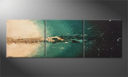 Pintura de lienzo 'Light Rupture' 210x70cm