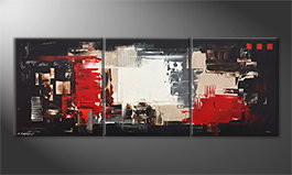 Pintura de lienzo 'Rumble Of Light' 180x70cm