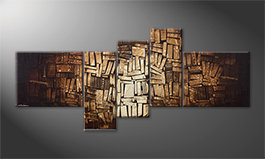 Pintura de lienzo 'Wooden Light' 200x90cm