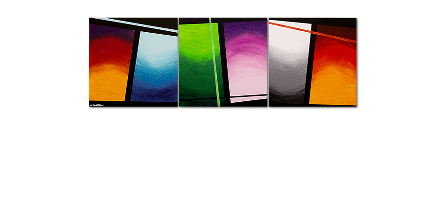 Cuadro de gran formato Wave of Colors 240x80cm