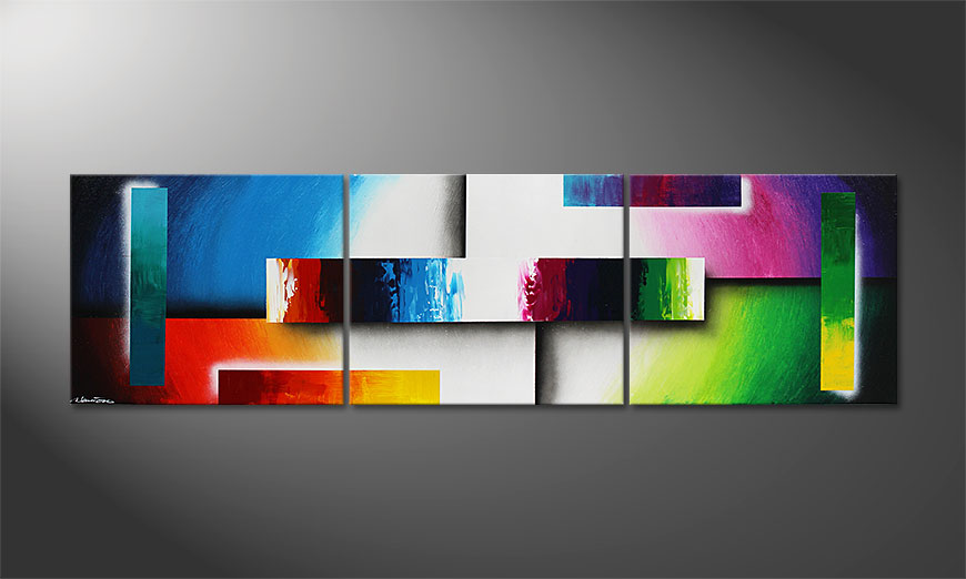 Colour Construction 210x60x2cm Cuadro moderno