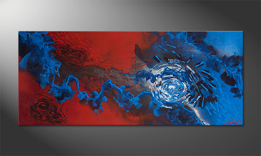 Cuadro moderno Frozen Rose 140x60x2cm