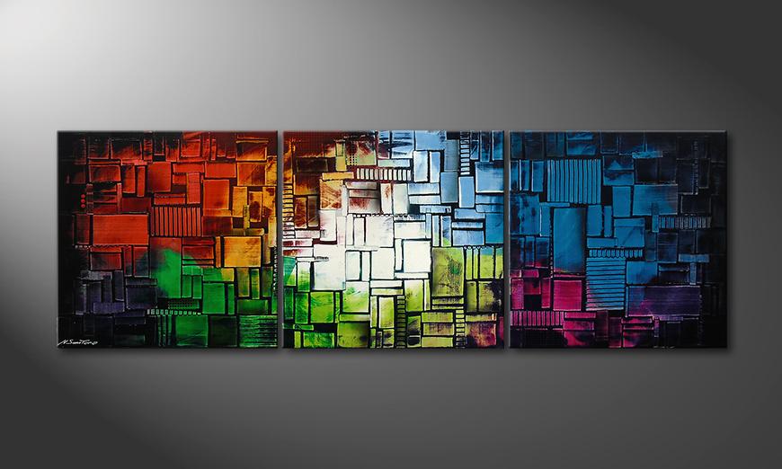 El cuadro Color Cubes210x70x2cm
