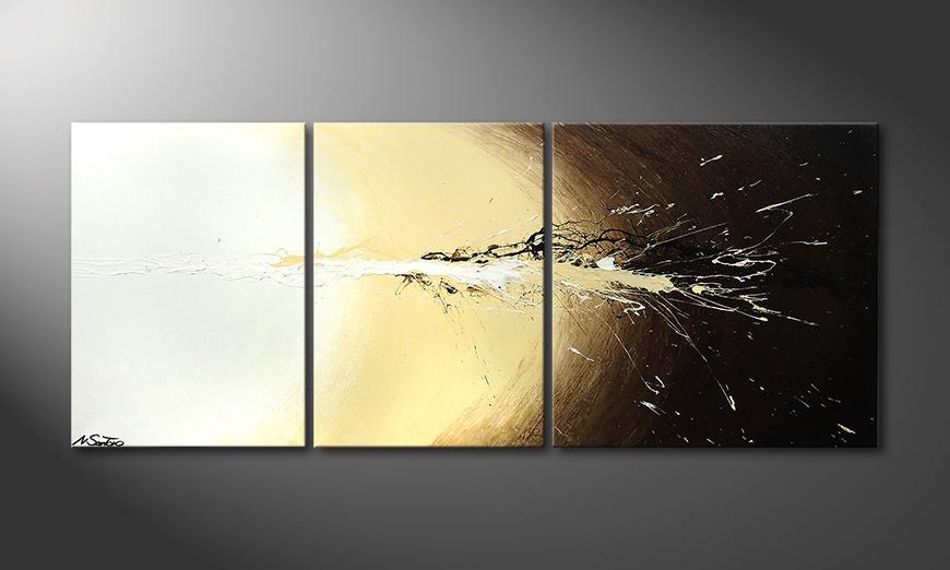 El cuadro Exploded Light 170x70x2cm