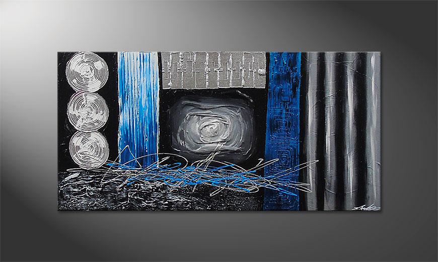 El cuadro Frozen Signs 120x60x2cm