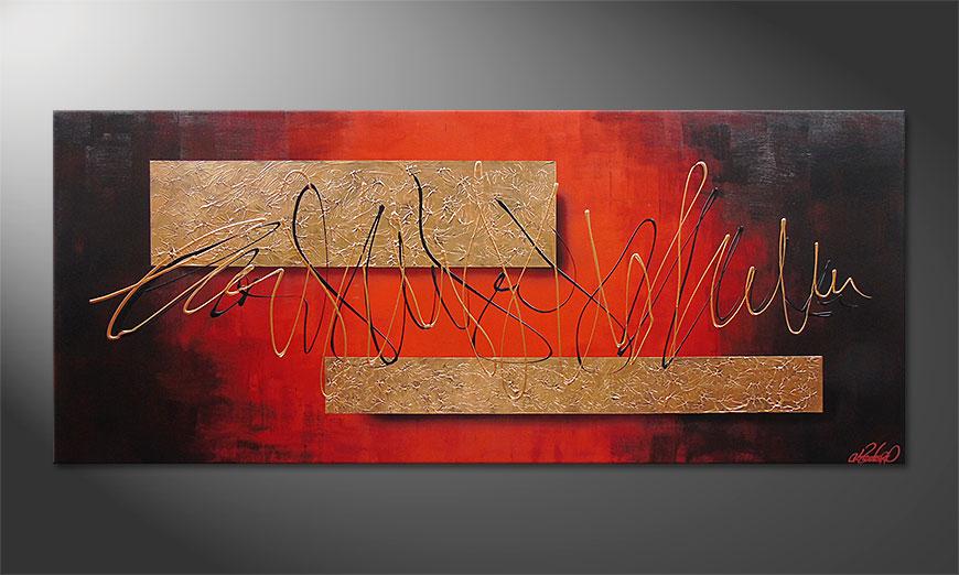 El cuadro Golden Works 180x80x2cm