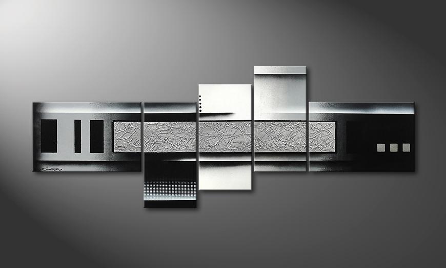 El cuadro Grey and Black 210x80x2cm