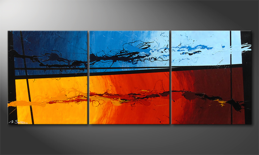 El cuadro Hot and Cold 150x60x2cm