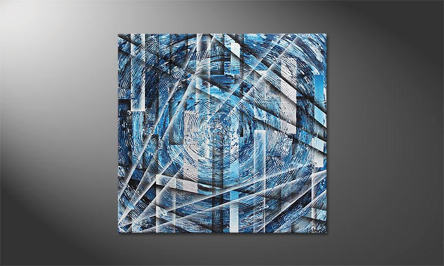 El cuadro Inner Ice 100x100x2cm