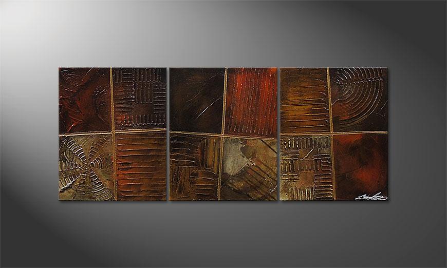 El cuadro Potpouri of Memories 120x50x2cm