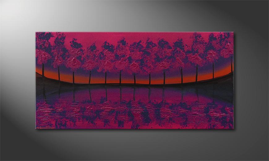 El cuadro Purple Tree 120x60x2cm
