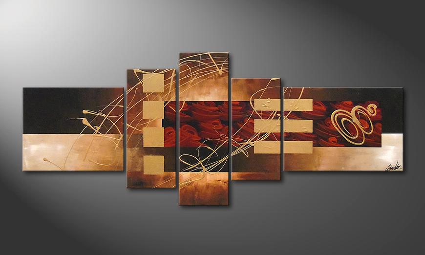 El cuadro Rosy Phantasies 220x90x2cm