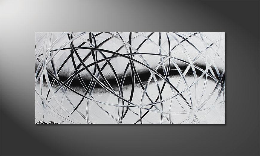 El cuadro Snow Traces 100x50x2cm