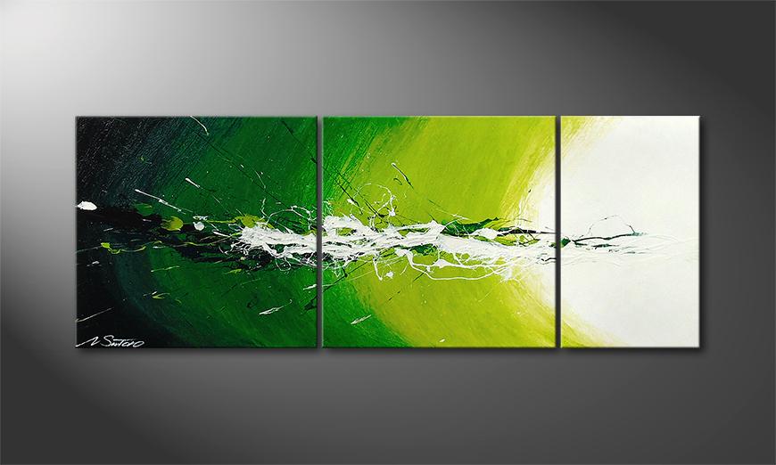 El cuadro Spring Splash de 130x50x2cm