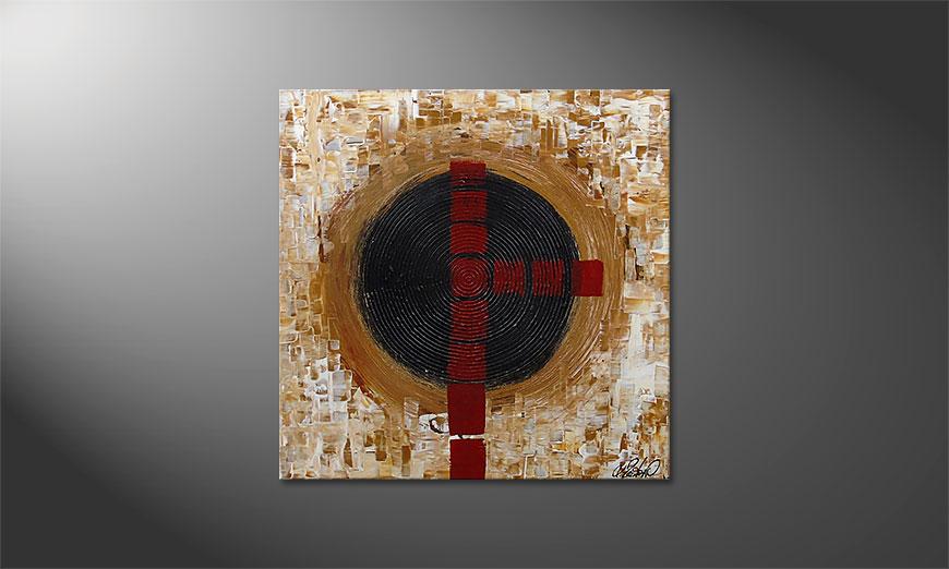 El cuadro Squaring the Circle 80x80x2cm