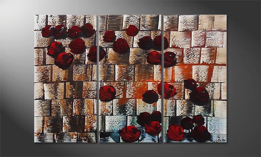El cuadro Storm of Roses 120x80x2cm
