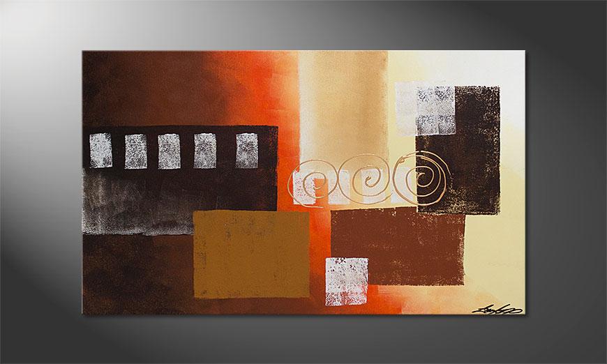 El cuadro Sunny Swirls 100x60x2cm