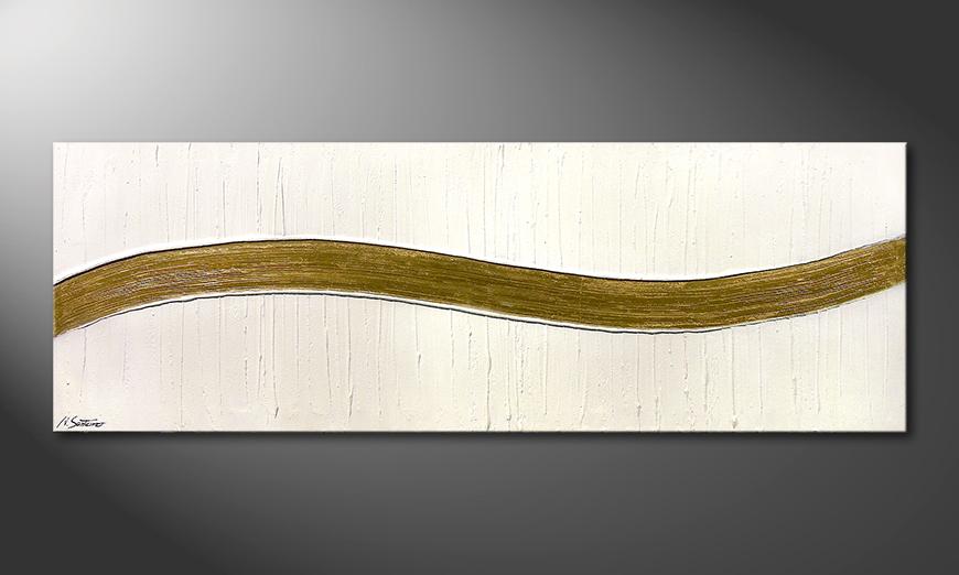 El cuadro Swinging Gold 180x60x2cm