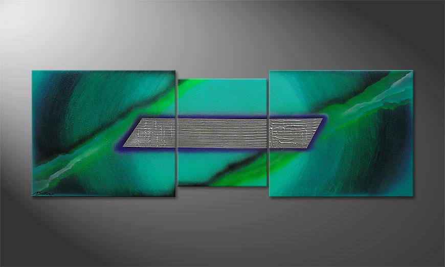 El cuadro Underwater Treasure 210x70x2cm