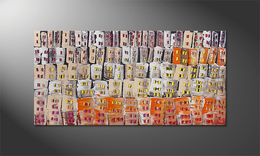 El cuadro Urban Desert 120x60x2cm