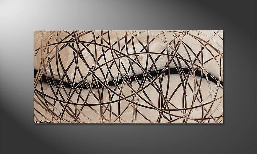 El cuadro en acrílico Desert Traces 120x60x2cm