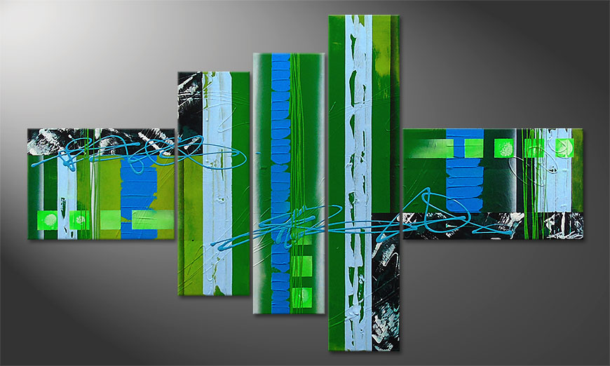 El cuadro moderno Fresh Momentum 150x90x2cm