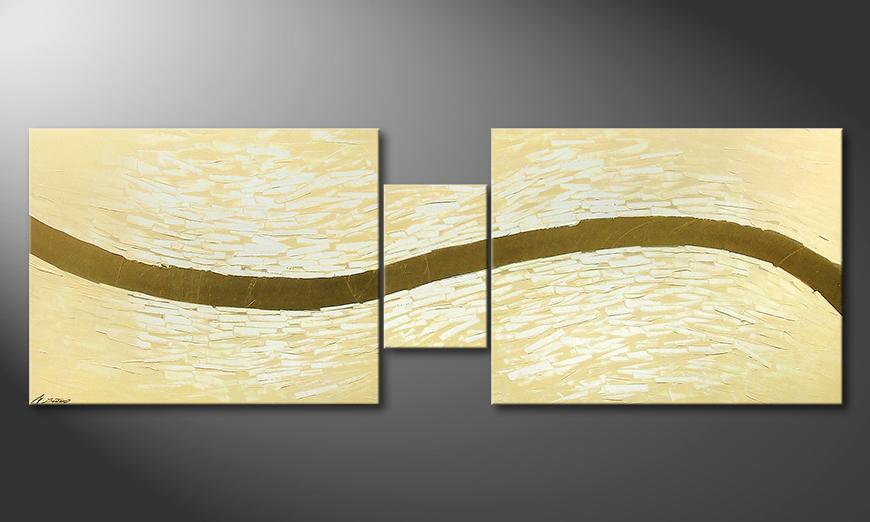 El cuadro moderno Gentle River 230x80x2cm