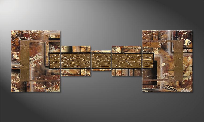 El cuadro moderno Golden Treasure 180x60x2cm