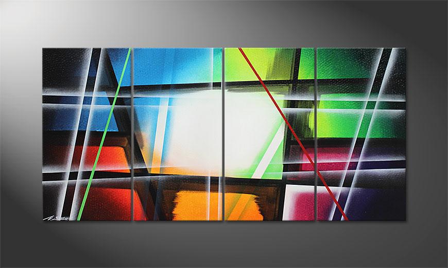 El cuadro moderno Prisma 160x80x2cm