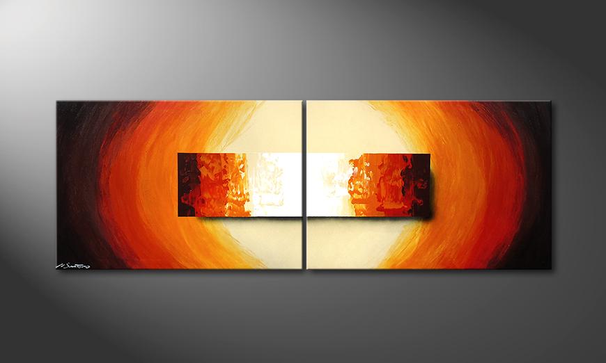 El cuadro para la sala Aboil Fire 210x70x2cm