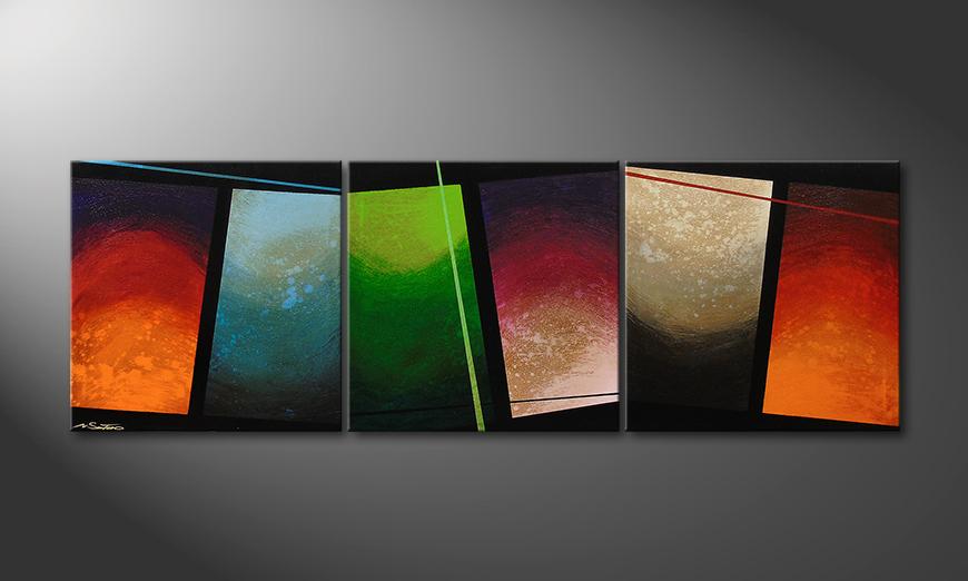 El cuadro para la sala Color Wave 210x70x2cm