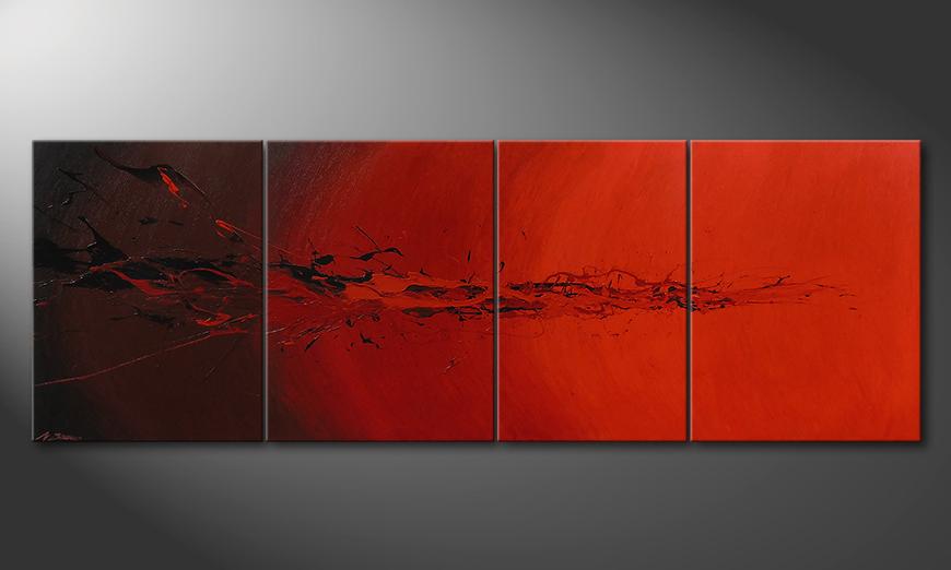 El cuadro para la sala Devil Splash 230x80x2cm