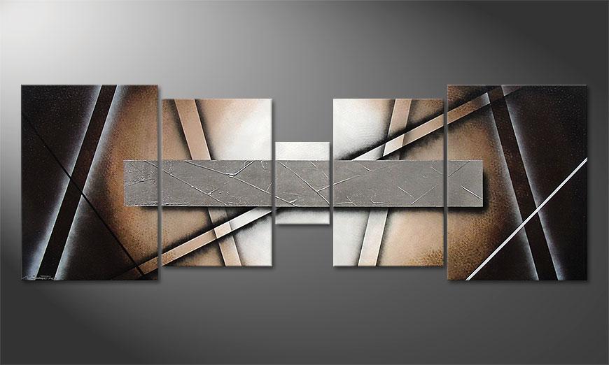 El cuadro para la sala Silver Mirror 200x70x2cm
