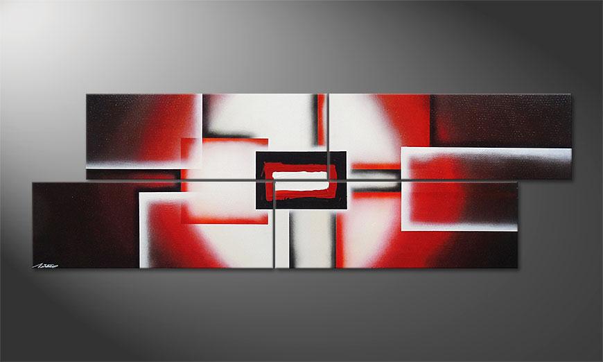 Nuestra pintura XXL Cubes of Glow 245x80x2cm