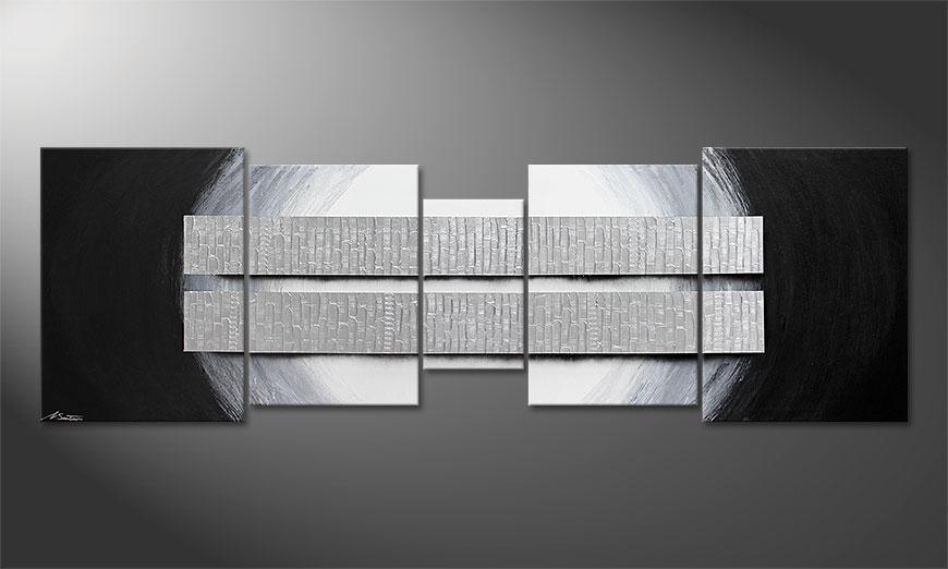 Nuestro cuadro XXL Blocs of Silver 250x80x2cm
