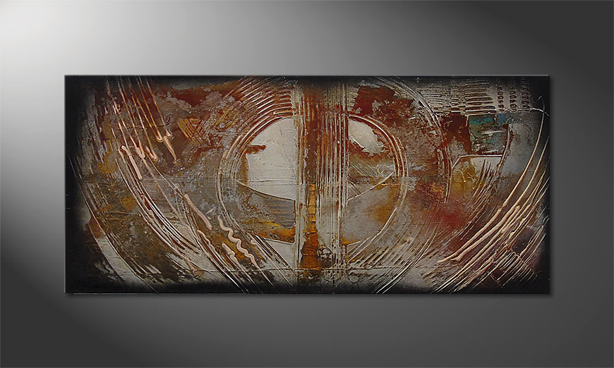 Traces of Past 110x50x2cm Cuadro