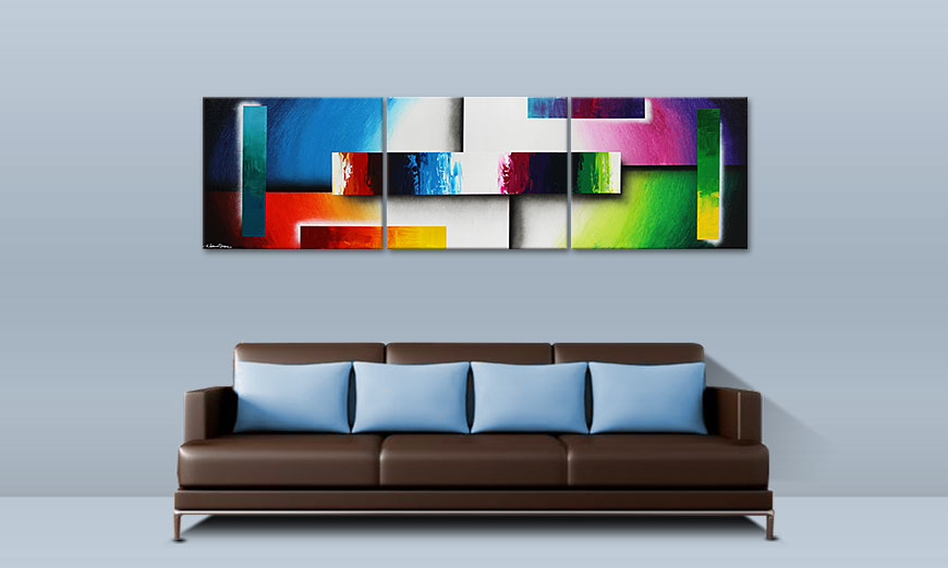 Colour Construction 210x60cm Cuadro moderno