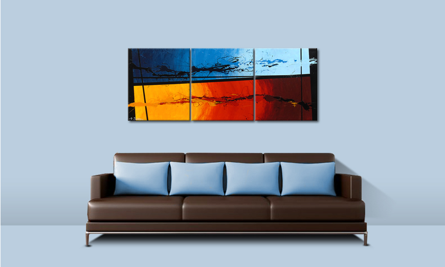 El cuadro Hot and Cold 150x60cm