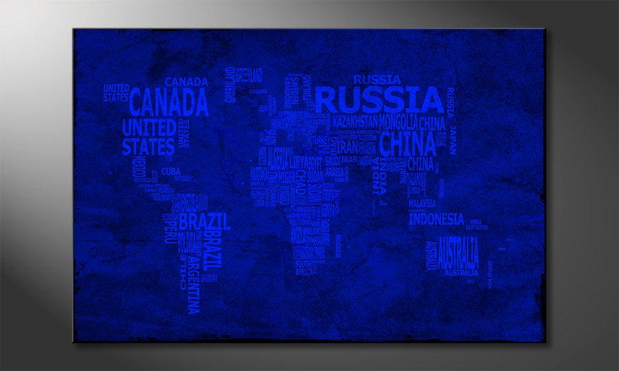 El cuadro Mapa del Mundo 10