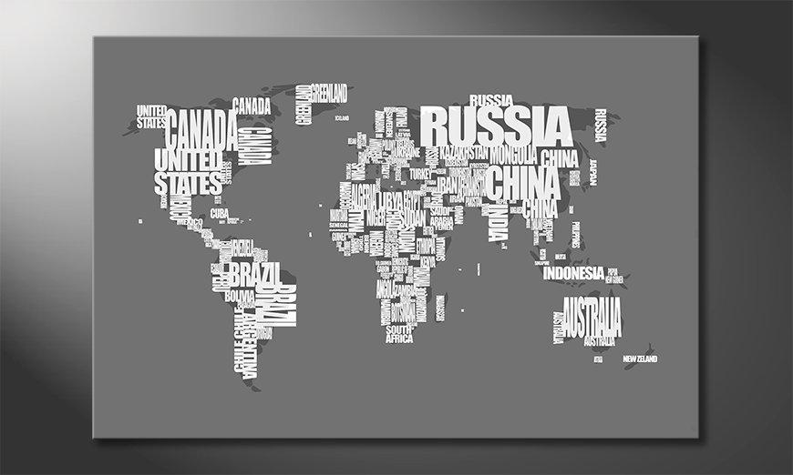 El cuadro Mapa del Mundo 11
