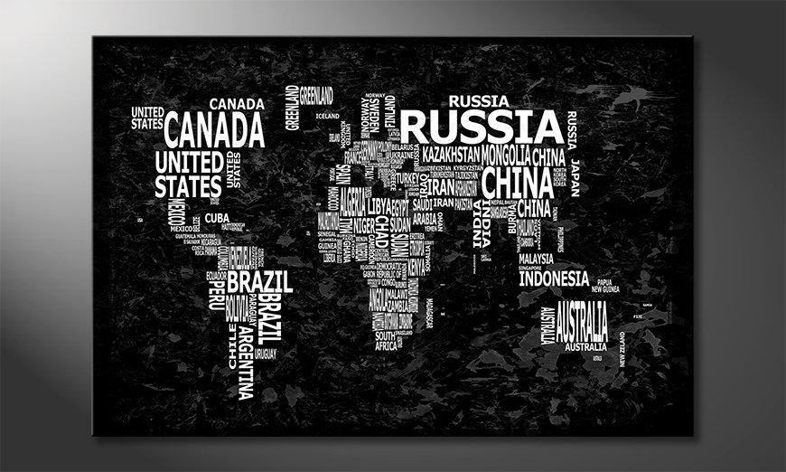 El cuadro Mapa del Mundo 12