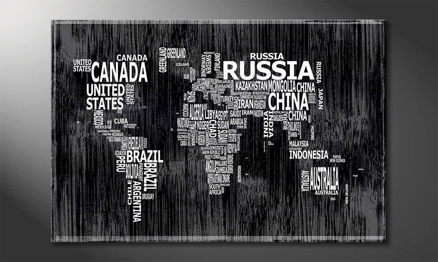 El cuadro Mapa del Mundo 13