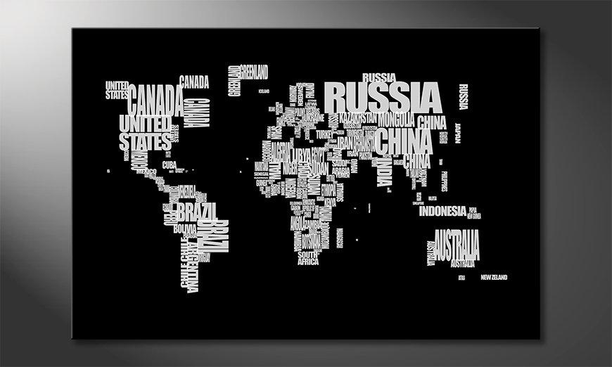 El cuadro Mapa del Mundo 14