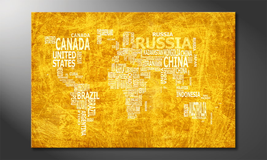 El cuadro Mapa del Mundo 15