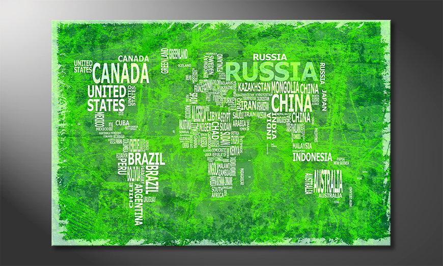El cuadro Mapa del Mundo 16